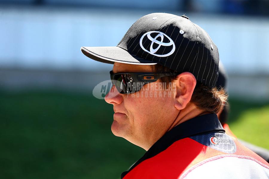 Jun. 1, 2014; Englishtown, NJ, USA; NHRA funny car driver Chad Head during the Summernationals at Raceway Park. Mandatory Credit: Mark J. Rebilas-