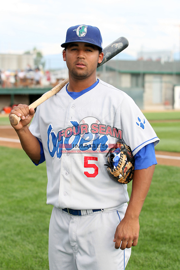August 12, 2009:  Rafael Ynoa of the Ogden Raptors. The Ogden Raptors are the Pioneer League affiliate of the Los Angeles Dodgers. Photo by: Chris Proctor/Four Seam Images