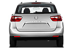 Straight rear view of 2010 Seat Ibiza ST 5 Door Wagon Stock Photo