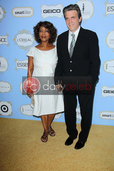 Alfre Woodard, Roderick Spencer<br /> at the 6th Annual Essence Black Women in Hollywood Luncheon, Beverly Hills Hotel, Beverly Hills, C A 02-21-13<br /> David Edwards/DailyCeleb.com 818-249-4998