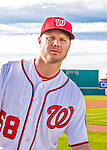 28 February 2016: Washington Nationals pitcher Jonathan Papelbonn poses for his Spring Training Photo-Day portrait at Space Coast Stadium in Viera, Florida. Mandatory Credit: Ed Wolfstein Photo *** RAW (NEF) Image File Available ***