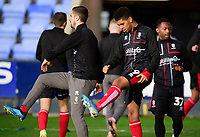 Lincoln City's Tyreece John-Jules, left, and Tayo Edun during the pre-match warm-up<br /> <br /> Photographer Andrew Vaughan/CameraSport<br /> <br /> The EFL Sky Bet League One - Shrewsbury Town v Lincoln City - Saturday 11th January 2020 - New Meadow - Shrewsbury<br /> <br /> World Copyright © 2020 CameraSport. All rights reserved. 43 Linden Ave. Countesthorpe. Leicester. England. LE8 5PG - Tel: +44 (0) 116 277 4147 - admin@camerasport.com - www.camerasport.com
