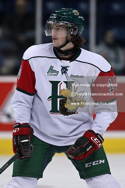 QMJHL (LHJMQ) hockey profile photo on Halifax Mooseheads Konrad Abeltshauser November 19, 2011 at the Colisee Pepsi in Quebec city.