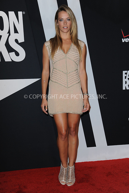 WWW.ACEPIXS.COM<br /> September 9, 2014 New York City<br /> <br /> Hannah Ferguson attending Fashion Rocks 2014 at the Barclays Center September 9, 2014 in New York City.<br /> <br /> Please byline: Kristin Callahan/AcePictures<br /> <br /> ACEPIXS.COM<br /> <br /> Tel: (212) 243 8787 or (646) 769 0430<br /> e-mail: info@acepixs.com<br /> web: http://www.acepixs.com