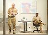 Othello<br /> by William Shakespeare <br /> at The Olivier Theatre, London, Great Britain <br /> press photocall<br /> 22nd April 2013 <br /> <br /> Adrian Lester as Othello<br /> <br /> Rory Kinnear as Lago <br /> <br /> Olivia Vinall as Desdemona<br /> Jonathan Bailey as Cassio <br /> Sandy Batchelor <br /> Adam Berry <br /> David Carr<br /> William Chubb<br /> Robert Demeger<br /> Jonathan Dryden Taylor<br /> Gabriel Fleary <br /> Rokhsaneh Ghawam-Shahidi<br /> Scott Karim<br /> David Kirkbride<br /> Lyndsey Marshal as Emilia<br /> Tom Radford <br /> Tom Robertson <br /> Nick Sampson<br /> Chook Sibtain<br /> Rebecca Tanwen<br /> Joseph Wilkins<br /> <br /> Photograph by Elliott Franks