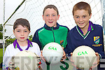 SO CU?L: Trying new skills at the GAA Cu?l Camp in Ballydonoghue last week were, l-r: Sean Fitzgerald, Jack Foley, Darragh Sheehy.