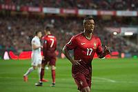 LISBOA, PORTUGAL, 29 DE MARÇO 2015 - QUAL. UEFA EURO 2016 - PORTUGAL X SÉRVIA -  Jogador Nani durante jogo de qualificação para o Europeu de futebol entre Portugal X Sérvia, no Estádio da Luz, em Lisboa, Portugal. (Foto: Bruno de Carvalho - Brazil Photo Press)