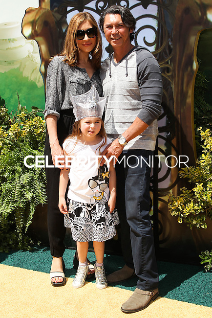 "WESTWOOD, LOS ANGELES, CA, USA - MAY 03: Yvonne Boismier Phillips, Lou Diamond Phillips at the Los Angeles Premiere Of ""Legends Of Oz: Dorthy's Return"" held at the Regency Village Theatre on May 3, 2014 in Westwood, Los Angeles, California, United States. (Photo by Celebrity Monitor)"