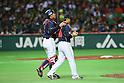(L to R) .Ryoji Aikawa (JPN), .Toshiya Sugiuchi (JPN), .MARCH 2, 2013 - WBC : .2013 World Baseball Classic .1st Round Pool A .between Japan 5-3 Brazil .at Yafuoku Dome, Fukuoka, Japan. .(Photo by YUTAKA/AFLO SPORT) [1040]