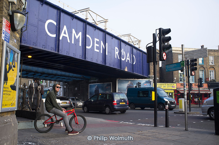 The Camden Road railway bridge will be rebuilt, necessitating closure of the road beneath for several months, and demolition of nearby businesses, under current plans for the HS2 high speed rail link.
