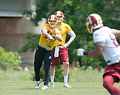 Washington Redskins quarterback Colt MCCoy (16) participates in an organized team activity (OTA) at Redskins Park in Ashburn, Virginia on Wednesday, June 1, 2016.<br /> Credit: Ron Sachs / CNP