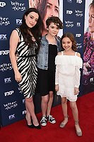 "NORTH HOLLYWOOD, CA - APRIL 19: Mikey Madison, Olivia Edward, and Hannah Alligood attend the For Your Consideration Red Carpet event for FX's ""Better Things"" at the Wolf Theatre at Saban Media Center on April 19, 2018 in North Hollywood, California. (Photo by Frank Micelotta/FX/PictureGroup)"