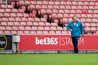 27th June 2020; Bet365 Stadium, Stoke, Staffordshire, England; English Championship Football, Stoke City versus Middlesbrough; New manager of Middlesborough  Neil Warnock walks into the stadium