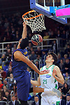 League ACB-ENDESA 2017/2018 - Game: 27.<br /> FC Barcelona Lassa vs Real Betis Energia Plus: 121-56.<br /> Adam Hanga vs Rade Zagorac.