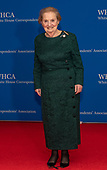 Former United States Secretary of State Madeleine Albright arrives for the 2019 White House Correspondents Association Annual Dinner at the Washington Hilton Hotel on Saturday, April 27, 2019.<br /> Credit: Ron Sachs / CNP<br /> <br /> (RESTRICTION: NO New York or New Jersey Newspapers or newspapers within a 75 mile radius of New York City)