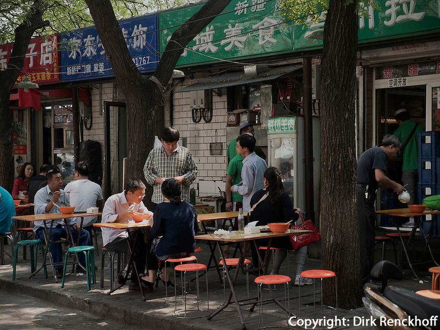 Stra&szlig;enrestaurant in Peking, China, Asien<br /> Street restaurant, Beijing, China, Asia