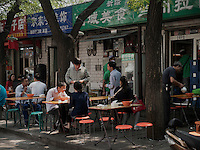 Straßenrestaurant in Peking, China, Asien<br /> Street restaurant, Beijing, China, Asia