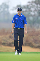 David Howell (ENG) on the 14th green during Friday's Round 2 of the 2014 BMW Masters held at Lake Malaren, Shanghai, China 31st October 2014.<br /> Picture: Eoin Clarke www.golffile.ie