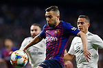 Real Madrid CF's Lucas Vazquez  and FC Barcelona's Jordi Alba  during Spanish Kings Cup semifinal 2nd leg match. February 27, 2019. (ALTERPHOTOS/Manu R.B.)