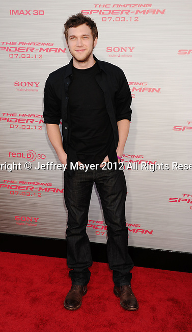 WESTWOOD, CA - JUNE 28: Philip Phillips arrives at the Los Angeles premiere of 'The Amazing Spiderman' at Regency Village Theatre on June 28, 2012 in Westwood, California.