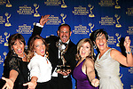BEVERLY HILLS - JUN 22: 'Un Nuevo Dia', Maria Lopez Alvarez, Maria Garcia Marquez, Aide Devis, Paco Havo, Adamari Lopez, with the award for Outstanding Morning Program in Spanish at The 41st Annual Daytime Emmy Awards Press Room at The Beverly Hilton Hotel on June 22, 2014 in Beverly Hills, California