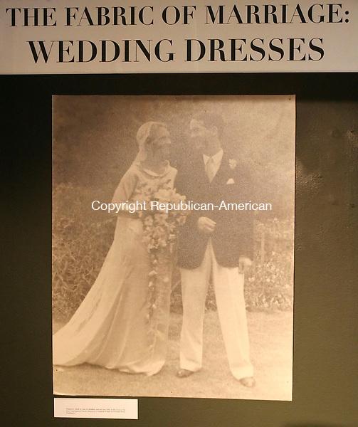 WASHINGTON, CT 06/01/08- 060108BZ09- A wedding dress exhibition at the Gunn Museum Sunday.  <br />  Jamison C. Bazinet Republican-American