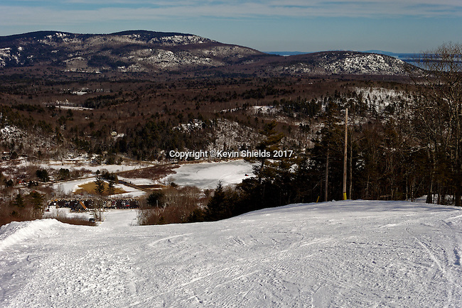 Camden Snow Bowl, a town-owned ski are in Camden, Maine, USA