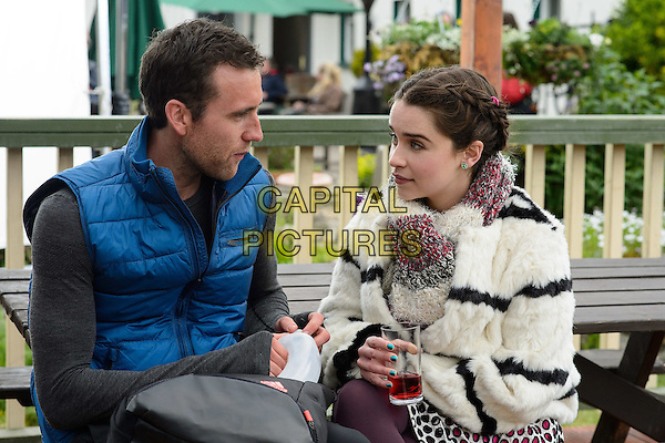 Me Before You (2016)<br /> Matthew Lewis &amp; Emilia Clarke <br /> *Filmstill - Editorial Use Only*<br /> CAP/KFS<br /> Image supplied by Capital Pictures