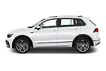 Car driver side profile view of a 2019 Volkswagen Tiguan Highline 5 Door SUV