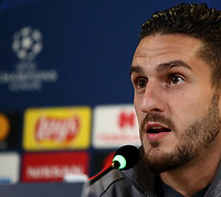 Atletico Madrid's Koke speaks during a press conference on November 25, 2019 at the Juventus Allianz stadium in Turin, on the eve of the UEFA Champions League Group D football match Juventus vs Atletico Madrid<br /> UPDATE IMAGES PRESS/Isabella Bonotto