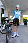 Tao Geoghegan Hart (GBR) Team Sky ready for a morning training ride before Stage 1 of the La Vuelta 2018, an individual time trial of 8km running around Malaga city centre. Mijas, Spain. 23rd August 2018.<br /> Picture: Eoin Clarke | Cyclefile<br /> <br /> <br /> All photos usage must carry mandatory copyright credit (© Cyclefile | Eoin Clarke)