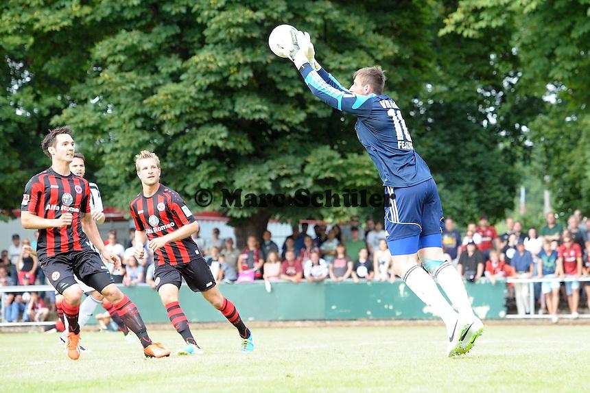 Jermin Fejcic (Aalen) haelt - Eintracht Frankfurt vs. VfR Aalen