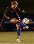 Junior Mid-fielder Danielle Krohn dribbles the ball during the University of Kentucky vs UT-Martin soccer game in the first round of the NCAA Soccer Tournament in Lexington, Ky., on, 11 11/9/2012, {year}. Photo by Jared Glover | Staff
