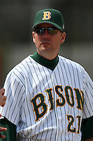 March 17, 2010:  Head Coach Tod Brown of North Dakota State University Bison vs. Long Island University at Lake Myrtle Park in Auburndale, FL.  Photo By Mike Janes/Four Seam Images