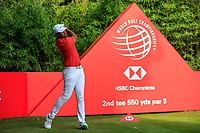 Tony Finau (USA) during the pro-am at the WGC HSBC Champions, Sheshan Golf Club, Shanghai, China. 30/10/2019.<br /> Picture Fran Caffrey / Golffile.ie<br /> <br /> All photo usage must carry mandatory copyright credit (© Golffile | Fran Caffrey)