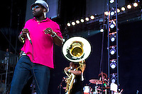 The Roots at the 2012 Bonnaroo Music Festival in Manchester, Tennessee. June 9, 2012. Credit: Jen Maler / MediaPunch Inc. NORTEPHOTO.COM<br /> NORTEPHOTO.COM