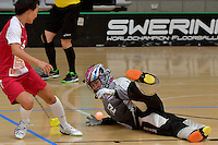 Thailand&rsquo;s Pornsawan Soramak in action during the World Floorball Championships 2017 Qualification for Asia Oceania Region - Singapore v Thailand at ASB Sports Centre , Wellington, New Zealand on Sunday 5 February 2017.<br /> Photo by Masanori Udagawa<br /> www.photowellington.photoshelter.com.