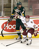 Sebastian Stålberg (Vermont - 8), Patch Alber (BC - 27) - The Boston College Eagles defeated the visiting University of Vermont Catamounts 6-0 on Sunday, November 28, 2010, at Conte Forum in Chestnut Hill, Massachusetts.