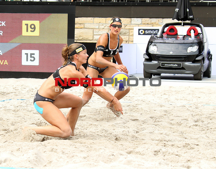 08.08.2013, Waldbuehne, Berlin, GER, Berlin, Beachvolleyball, FIVB World-Tour, Women, im Bild Katrin Holtwick - Ilka Semmler (Seaside Beach Club Essen)<br /> <br />               <br /> Foto &copy; nph /  Schulz