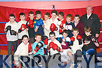 Some of the pupils from Ballybunion's Scoil Pio Naofa who have commenced boxing training with Paddy Enright at the Cashen Vale Boxing Club the Ballybunion Community Centre each week.   Copyright Kerry's Eye 2008