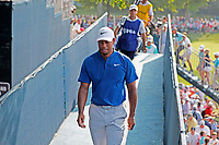 Tiger Woods (USA) walks to the clubhouse after finishing on the 18th hole during the third round of the 100th PGA Championship at Bellerive Country Club, St. Louis, Missouri, USA. 8/11/2018.<br /> Picture: Golffile.ie | Brian Spurlock<br /> <br /> All photo usage must carry mandatory copyright credit (&copy; Golffile | Brian Spurlock)