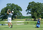 MUSCLE SHOALS, AL - MAY 25: Lynn's Tomas Gana watches his tee shot on No. 9 during the Division II Men's Team Match Play Golf Championship held at the Robert Trent Jones Golf Trail at the Shoals, Fighting Joe Course on May 25, 2018 in Muscle Shoals, Alabama. Lynn defeated West Florida 3-2 to win the national title. (Photo by Cliff Williams/NCAA Photos via Getty Images)