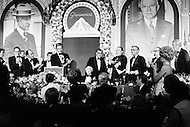 08 Jan 1973, Hollywood, Los Angeles, California, USA --- James Stewart, Bob Hope, Charlton Heston, Gregory Peck, Bette Davis celebrating Adolph Zukor's 100th Birthday. --- Image by © JP Laffont