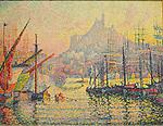 Notre-Dame-de-la-Garde, Marseilles, 1905-06,<br /> Paul Signac (1863–1935)  <br /> French Post-Impressionist painting.