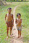Brother & Sister After Swimming