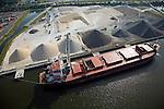 CSL International - Bahama Spirit unloading at the Martin Marietta Materials, Inc. Jacksonville Marine Facility, JaxPort.