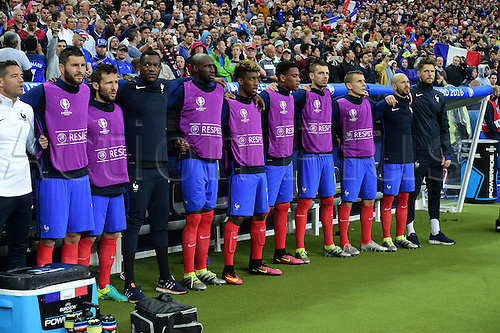 03.07.2016. St Denis, Paris, France. UEFA EURO 2016 quarter final match between France and Iceland at the Stade de France in Saint-Denis, France, 03 July 2016. The subs bench france