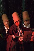 Türkei, Musiker beim Tanz der Derwische im Sirkeci-Bahnhof in Istanbul