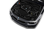 Car stock 2018 BMW 4 Series 430i 2 Door Convertible engine high angle detail view