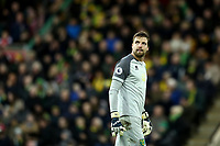 1st December 2019; Carrow Road, Norwich, Norfolk, England, English Premier League Football, Norwich versus Arsenal; Tim Krul of Norwich City - Strictly Editorial Use Only. No use with unauthorized audio, video, data, fixture lists, club/league logos or 'live' services. Online in-match use limited to 120 images, no video emulation. No use in betting, games or single club/league/player publications